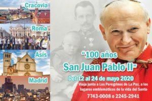 VIAJA A LA PEREGRINACION DE SAN JUAN PABLO II