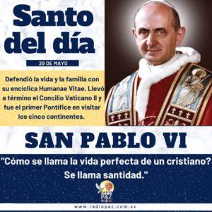 Santo del dia SAN PABLO VI