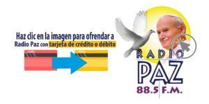 Hacer donacion a radio paz el salvador con tarjeta