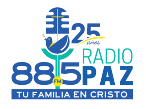 LOGO RADIO PAZ EL SALVADOR 25 AÑOS